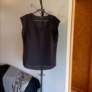 Plain black blouse